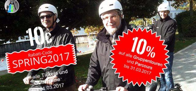 10% Frühbucher-Rabatt bis 31.03.2017