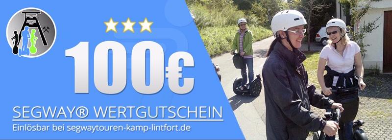 Verschenken Sie eine Segwaytour am Niederrhein - hier Wertgutschein im Wert von 100€ mit 6% Preisvorteil