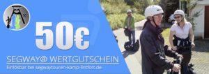 Verschenken Sie eine Segwaytour am Niederrhein - hier Wertgutschein im Wert von 50€ mit 4% Preisvorteil