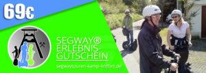 Verschenken Sie eine Segwaytour am Niederrhein - hier Geschenkgutschein im Wert von 69€