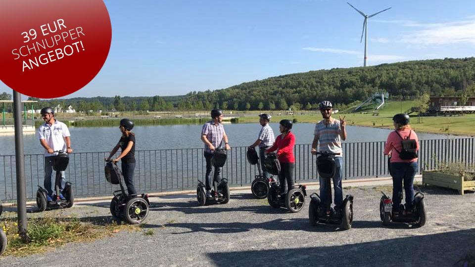 Segwaytouren am Niedrrhein - Buchen Sie die 11-Freunde-Tour für nur 39 EUR pro Person